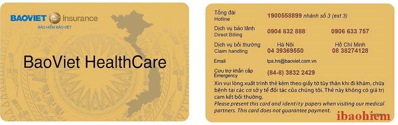 thẻ bảo lãnh bảo hiểm bảo Việt