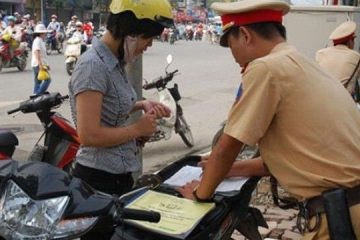 Bị phạt vì không có bảo hiểm xe máy