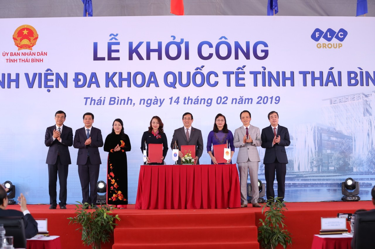 Lễ khởi công Bệnh viện Đa khoa Quốc tế Thái Bình năm 2019